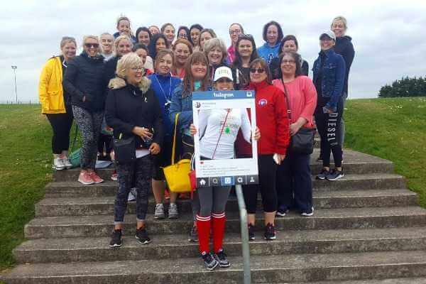 Super group shot of Cork ladies enjoying the lovely Rachel Martin-Sullivan's Hen Party at Astrobay today!