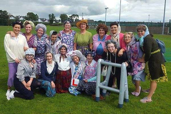 Hen party dressed up Mrs Brown