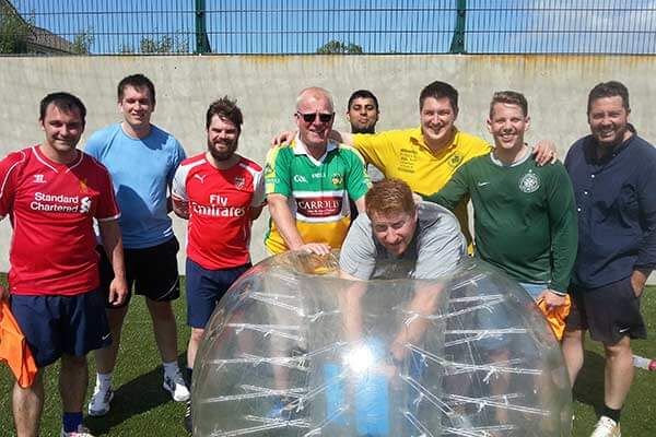 Stag Party Activities include Bubble Football, the awesome Stag Olympics, Battle Zone Archery, the Human Football Table or Giant Foot Darts!